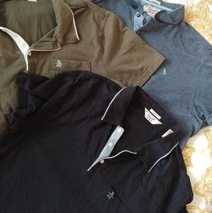 Bundle 3 original penguin men's shirts XL NWOT
